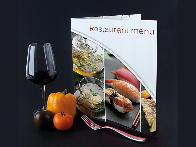 Création de menu pour les restaurants et l'hôtellerie